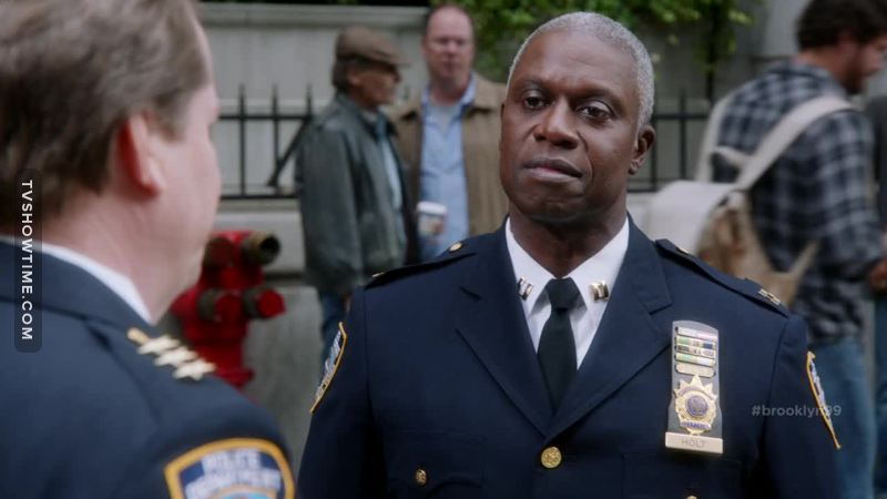 """You're gonna have to try a little harder if you wanna scare me. I've been an openly gay cop since 1987, so you're not the first superior officer to threaten me. You know how I'm still standing here? 'Cause I do my job, and I do it right."" 👏👏"