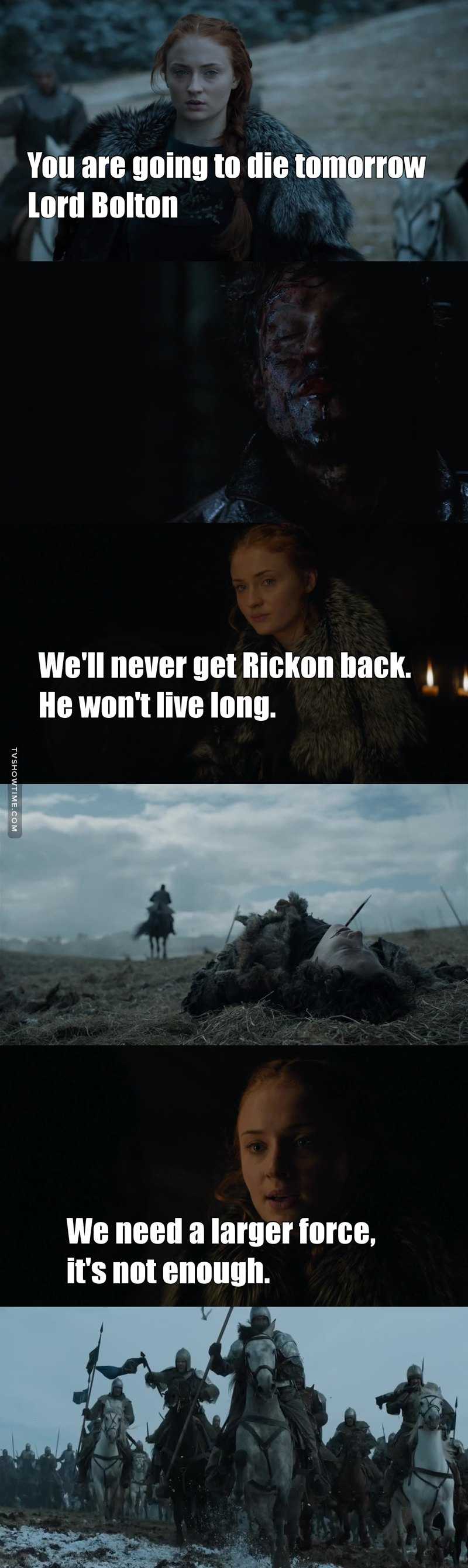 She truly understands the game now. Every single thing that she said turned out to be true. #TeamSansa
