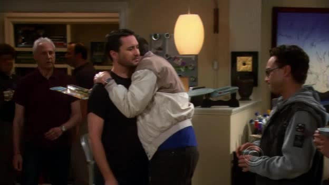 Sheldon  is hugging...