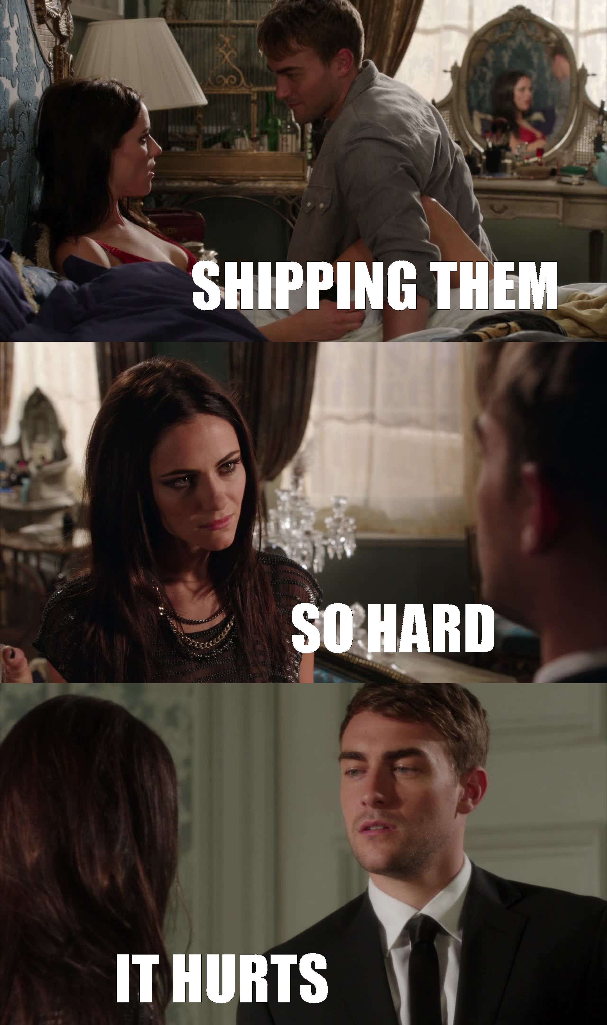 Gooooood ! Haven't felt that way since TVD season 1, Damon and Elena   I LOVE that show btw