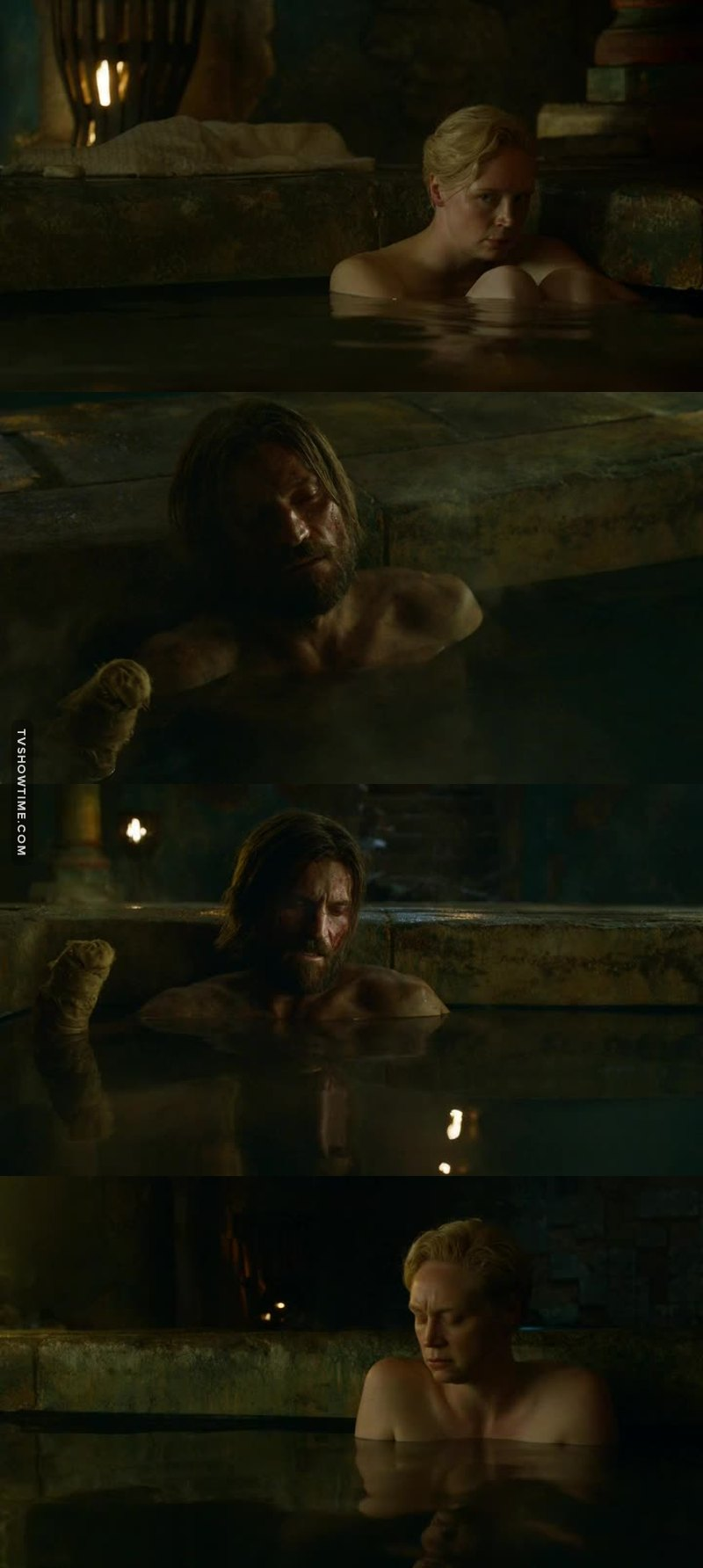I have loved Jaime Lannister in this episode. He's a better person without Cercei's bad influence.