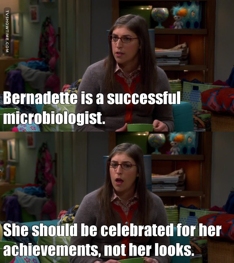 I really don't understand why Amy in this episode is less voted than Bernadette...