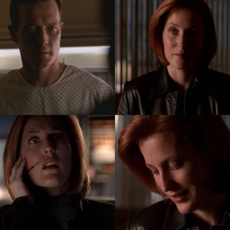 """you figured it out. I was just your eyes and ears."" Scully is the boss, she knows how to make things work. Dogget recognised it and so they get a special partner complicity moment"