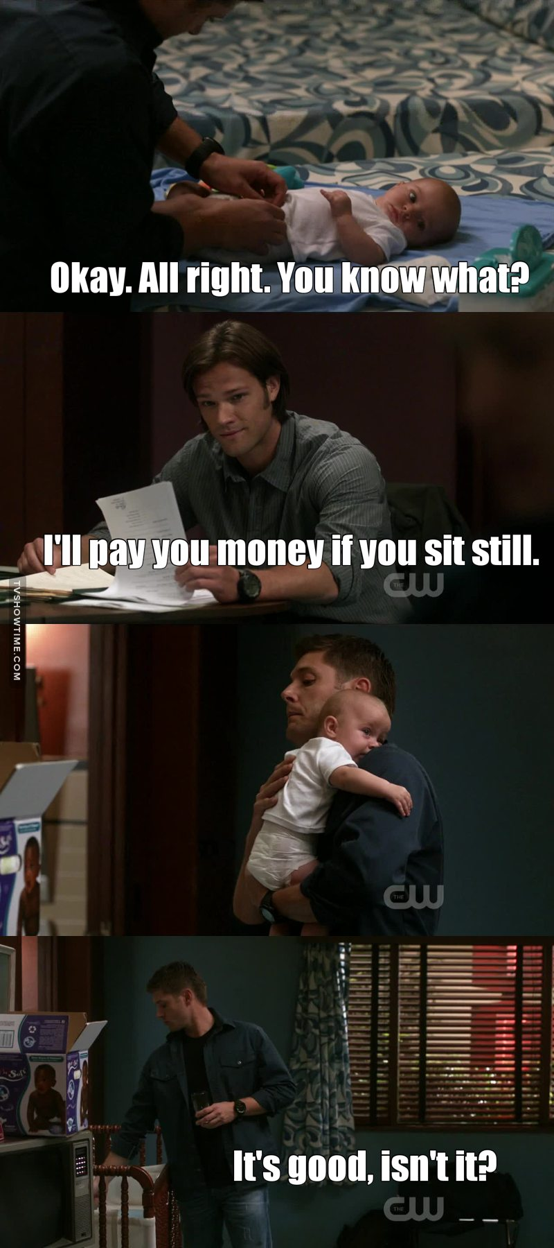 Dean with a baby was the best thing i have seen so far😍