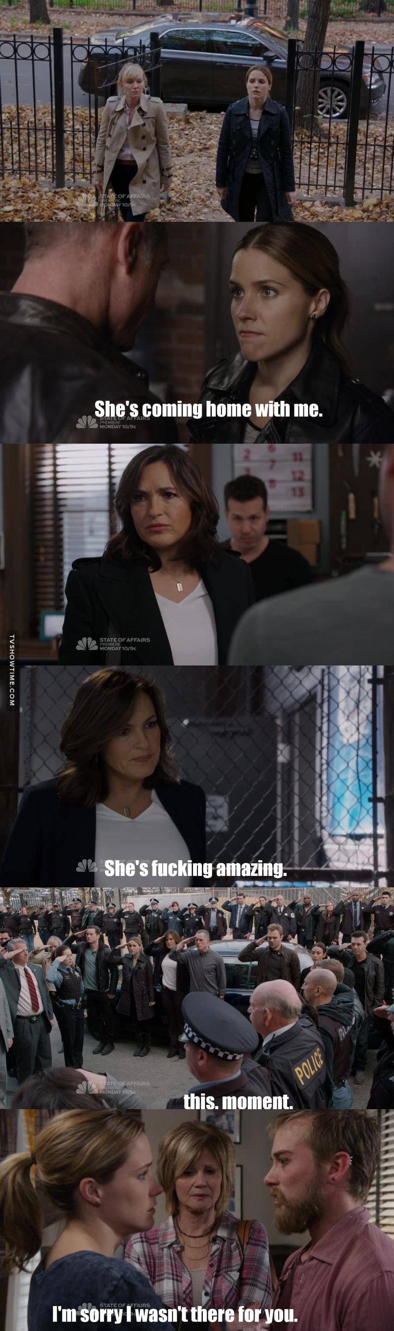CROSSOVER ARE LIFE. And this was a pretty intense one but hell I loved it so much.  Erin is the cutest and most badass ever ❤  Can we replace Voight with Olivia please?