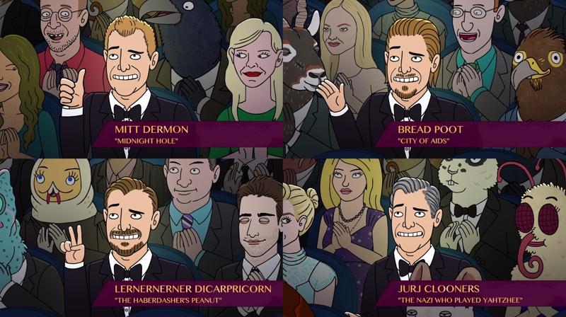 Matt Damon, Brad Pitt, Leonardo DiCaprio and George Clooney hahahaha