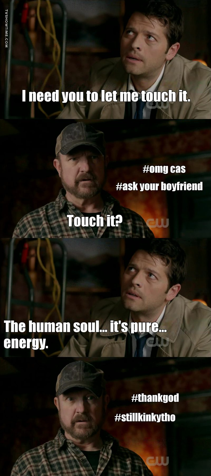 Cas didn't understand that reference
