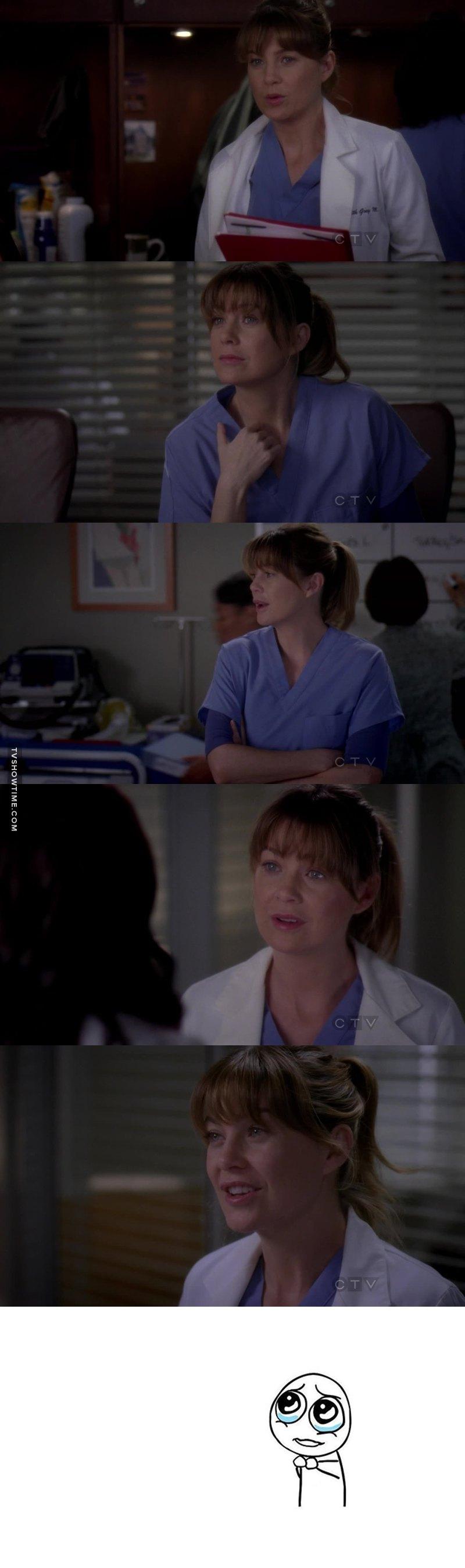Só digo que a Meredith fica linda de cabelo amarrado ❤