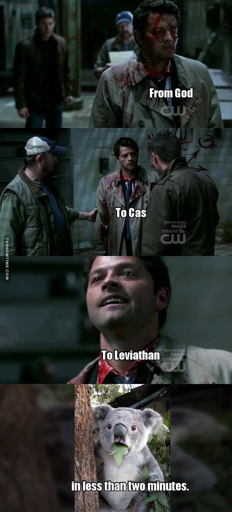 Hands down Misha Collins (No acting needed for the leviathan!cas)