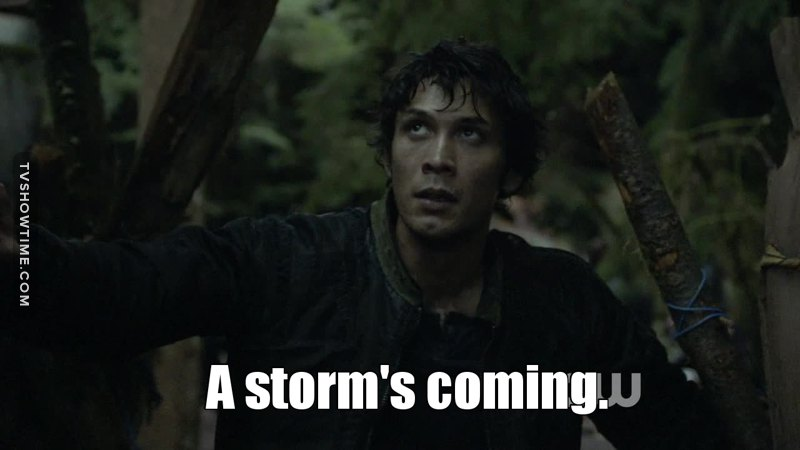 'A storm is coming' is the new 'Winter is coming'.
