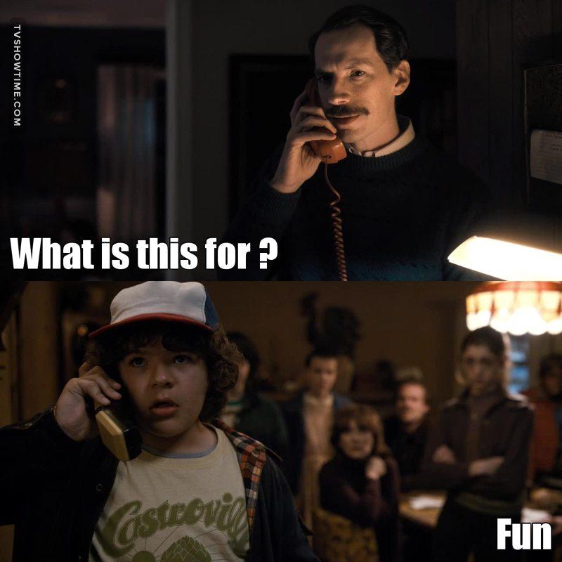 I loved Dustin in this scene ! He's so cute.