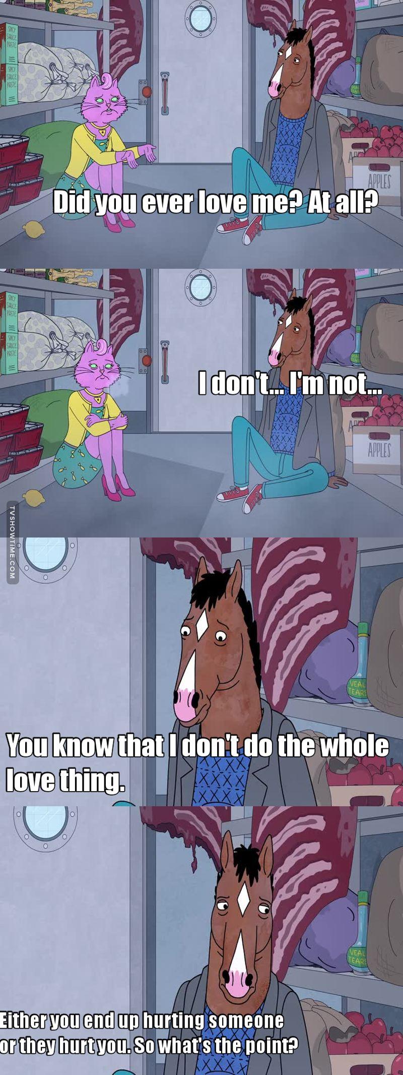bojack horseman episode 12 ending relationship
