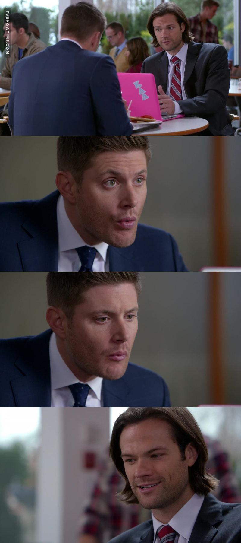 What are you hiding Dean? You read Destiel fanfictions don't you? Confess 😂