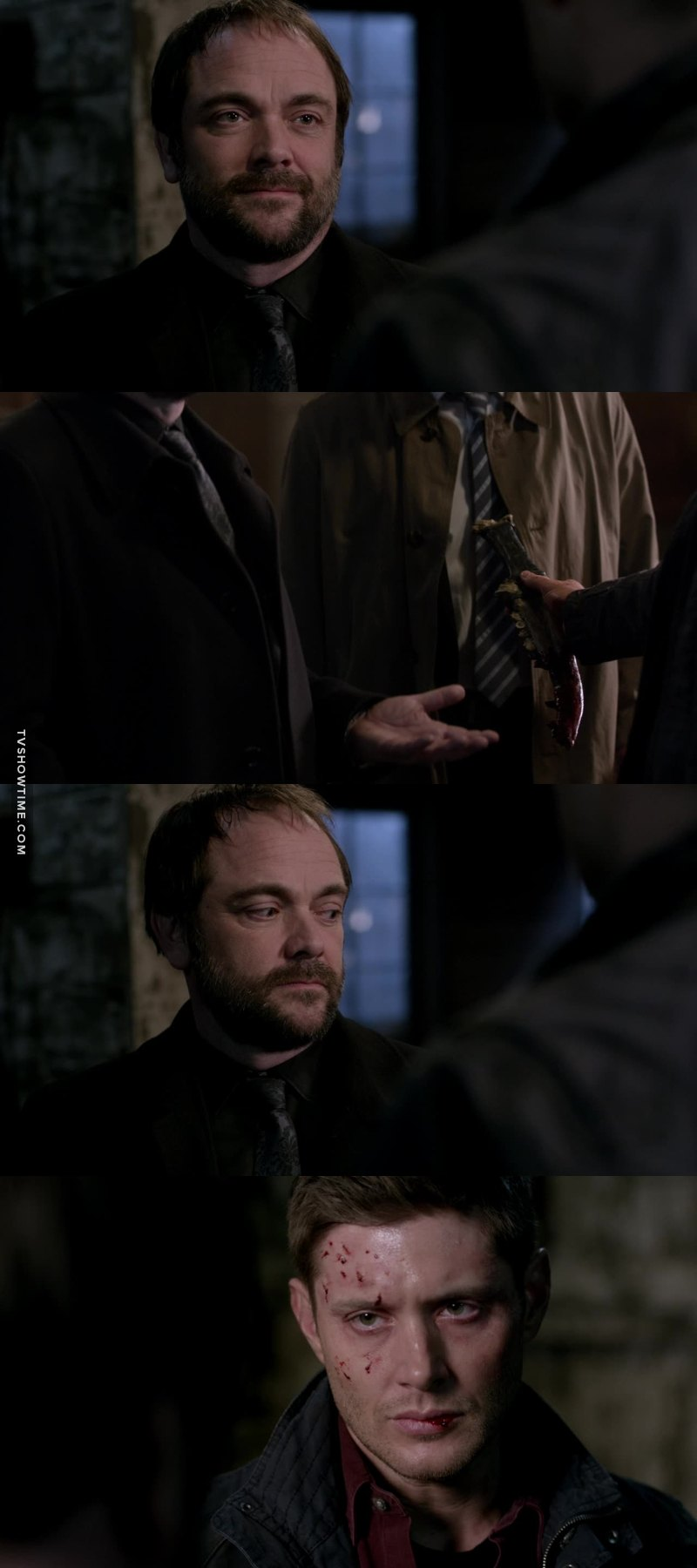 Poor Crowley, he's not and will never be trustworthy but he can be a friend in his way and he always comes when the Winchester need him. He wanted a friend in Dean, a team, he's bored in hell and I really don't like the way they treat him :( Now his bitch mother is going to make him turn on them
