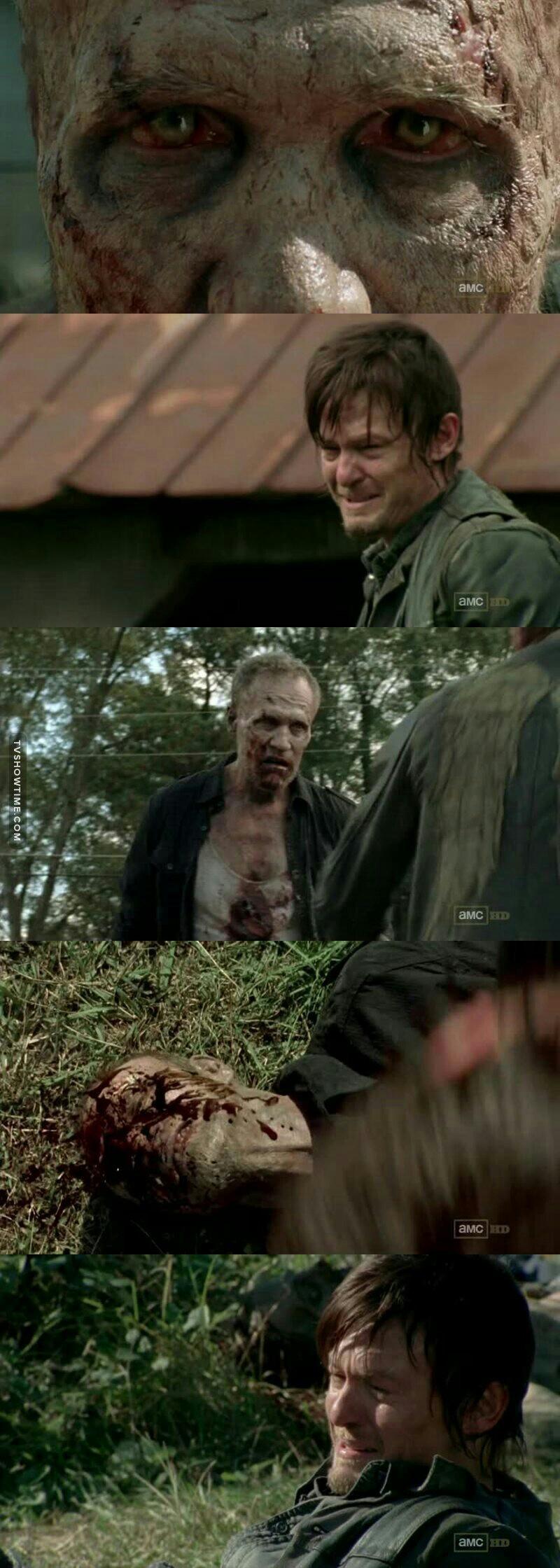 When Daryl cries.......everyone cries