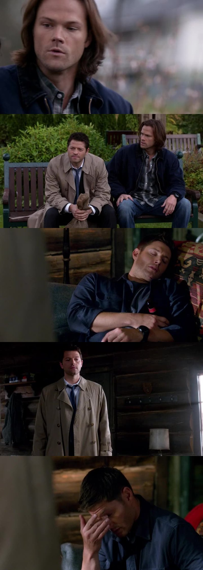 It's always funny when Cass just pops in on Sam & Dean and freaks them out.  :^)
