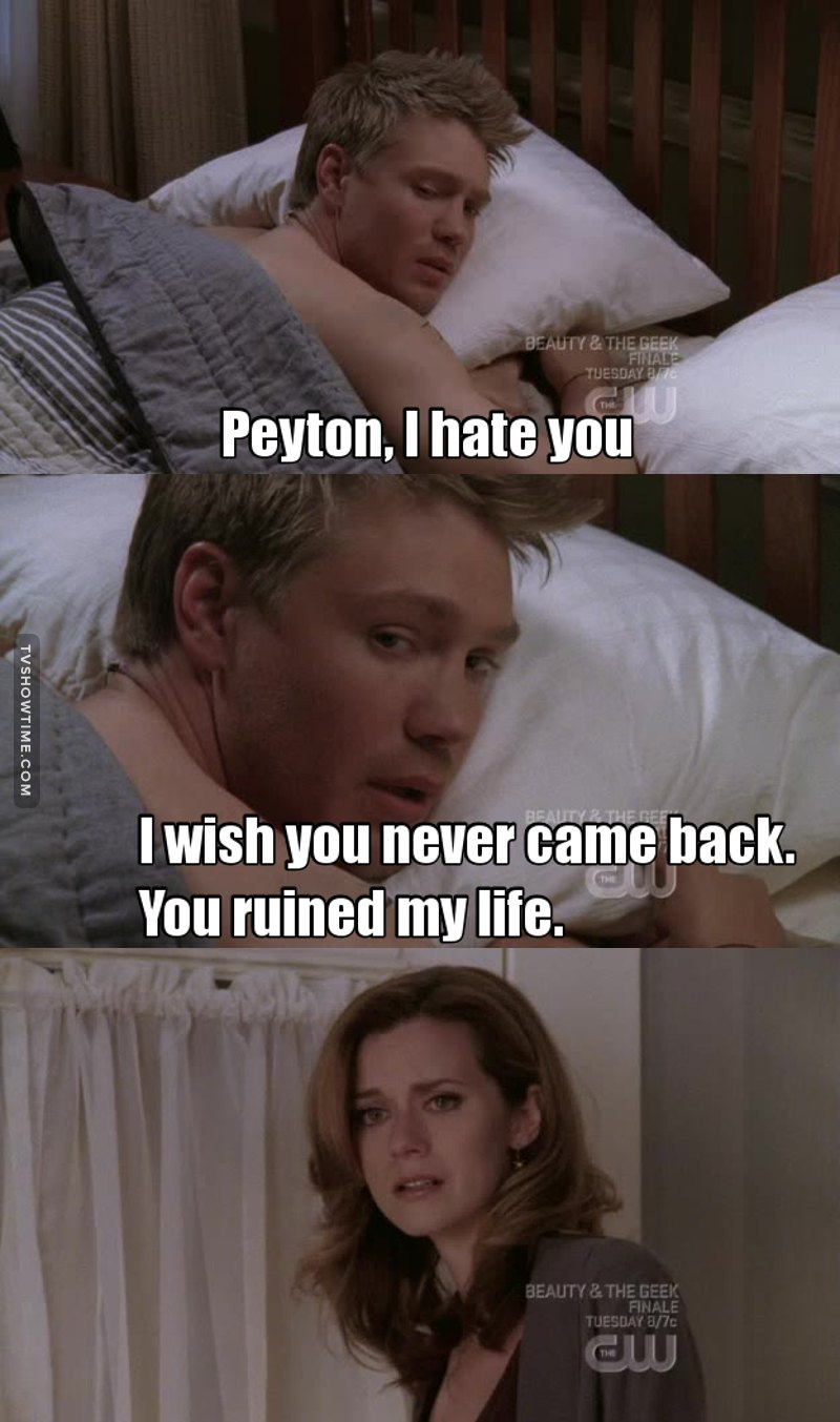 🌸 Peyton Sawyer deserves better 🌸 (and by better i mean jake)