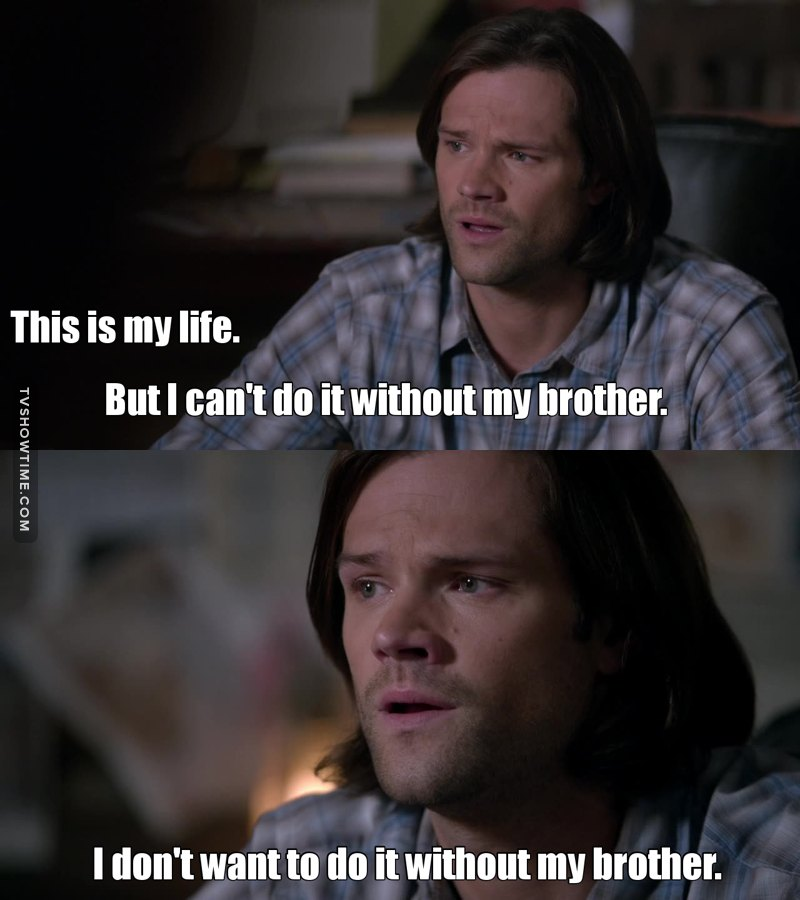 Congratulations Sam, after 10 seasons you finally understood something that Dean always knew. 👏