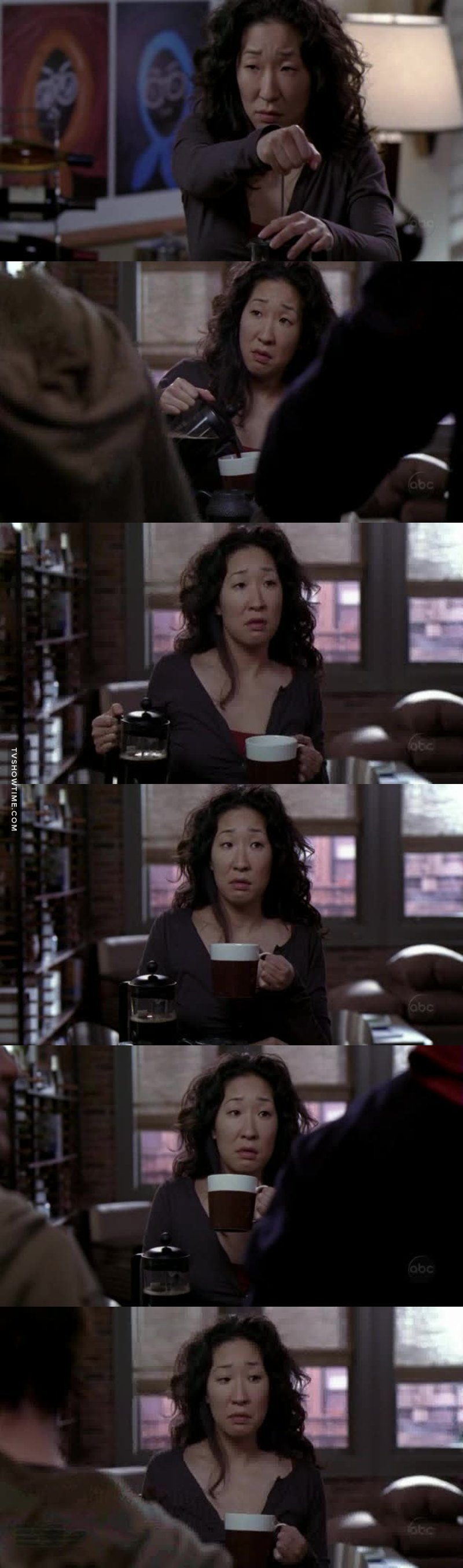 This scene is really fun, and Cristina is simply the best!!! 😂😍
