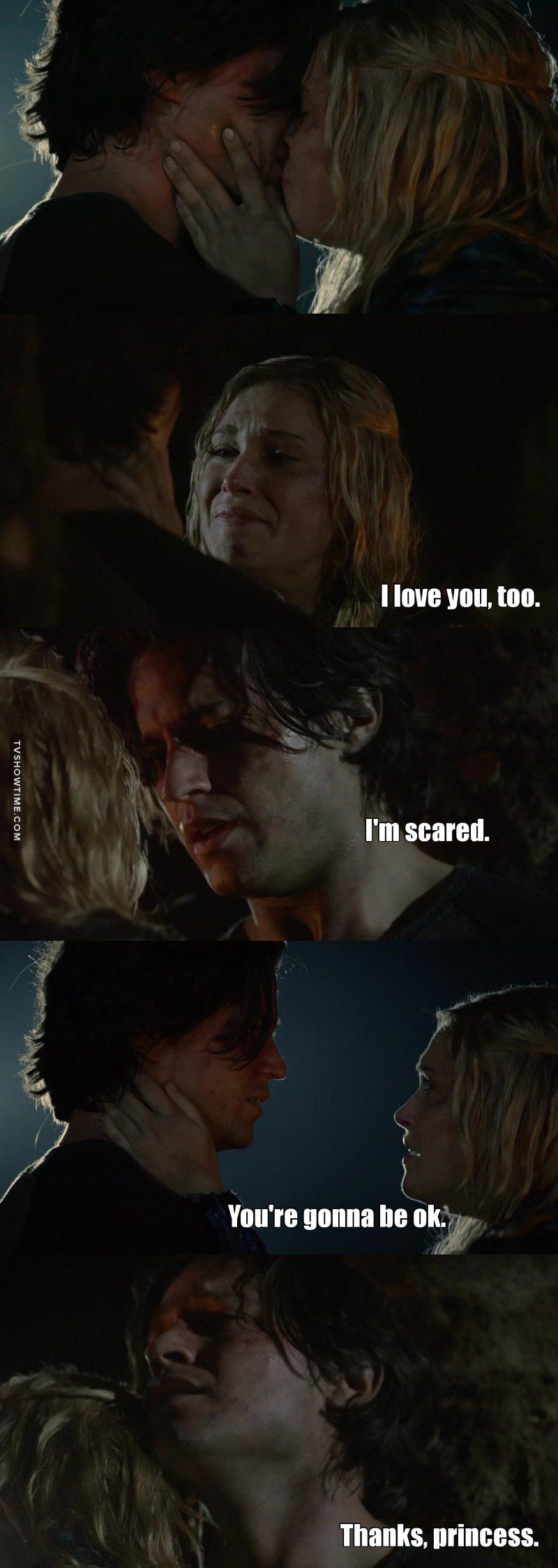 Dio mio. Non mi importa com'era lui o gli errori che ha fatto.. Questa scena mi ha uccisa.