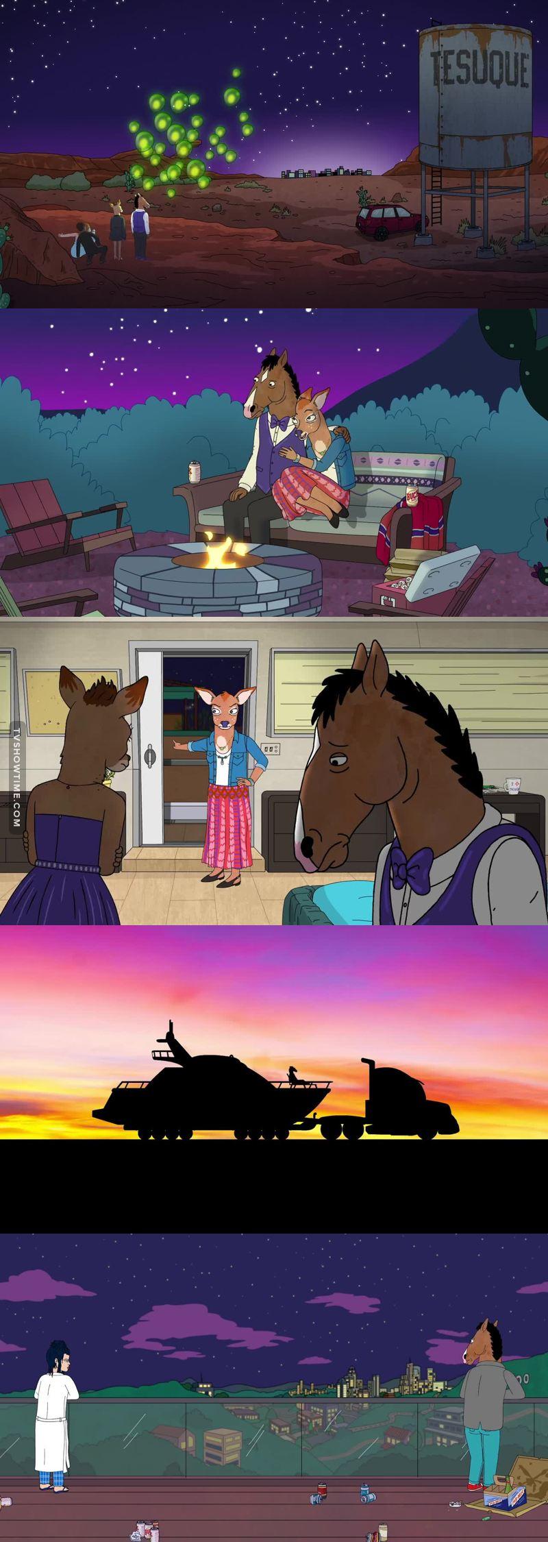 Uno degli episodi migliori fin qui! BoJack è veramente l'antieroe per eccellenza, immorale, stronzo, egoista, ma penso che tutti almeno una volta ci siamo riconosciuti in lui! Fantastica serie, non mi stancherò mai di dirlo!