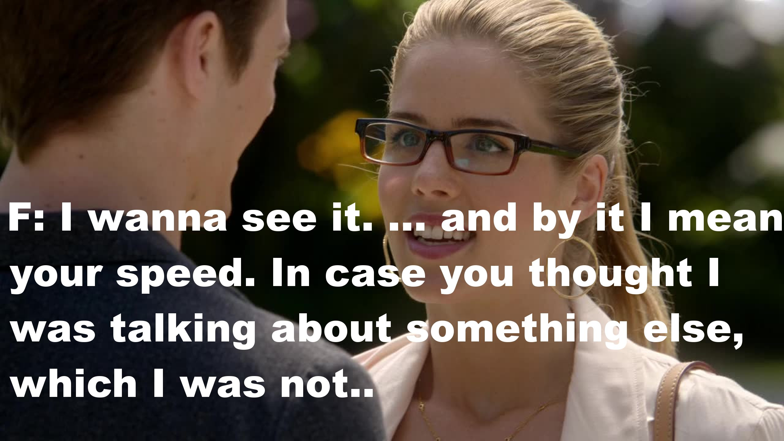 Felicity being Felicity. I love her everywhere she goes!