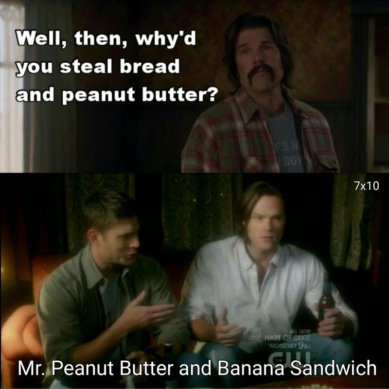 He was trying to make Sammy's favourite sandwich ❤😢