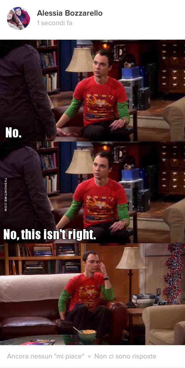 Quando scopri che in questa puntata Sheldon ha un altro doppiatore 😭