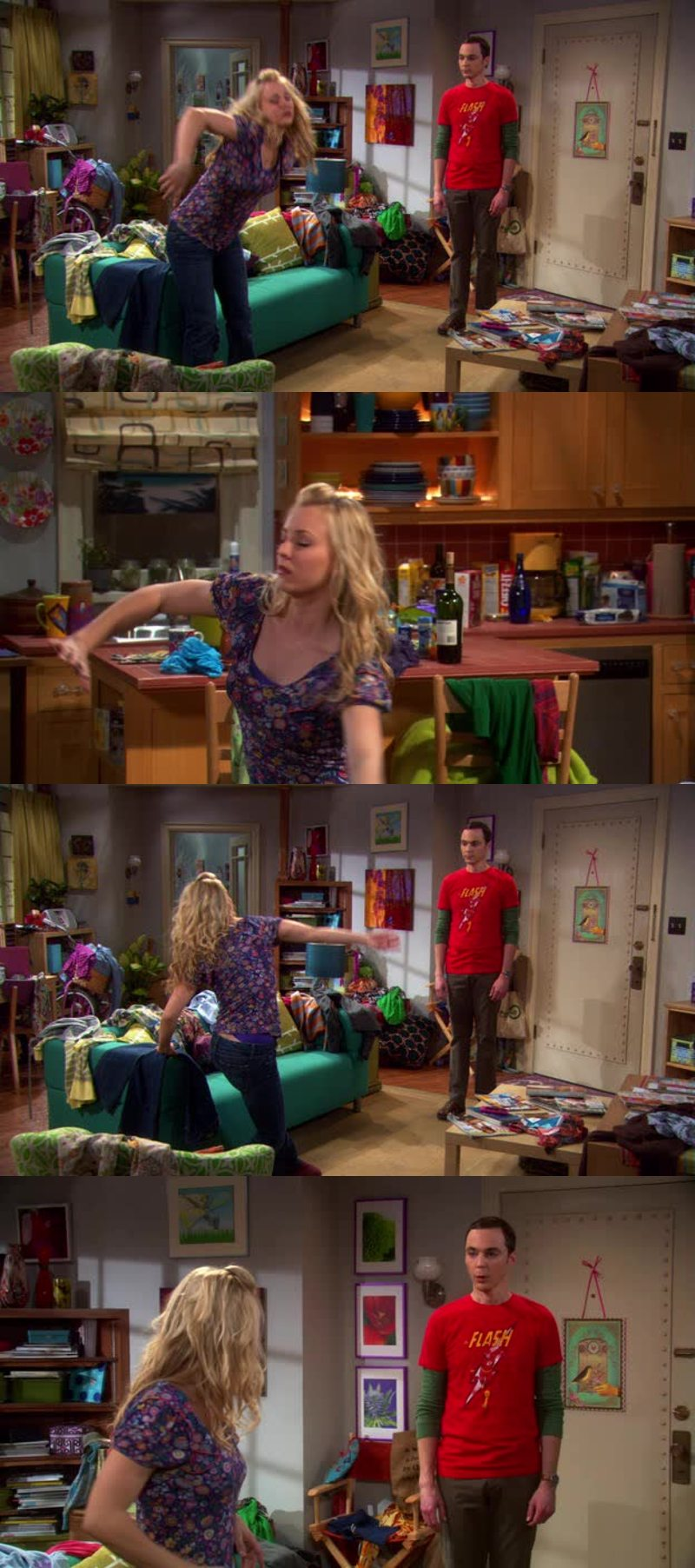 This scene 😂😂 Sheldon and Penny are the best, so funny