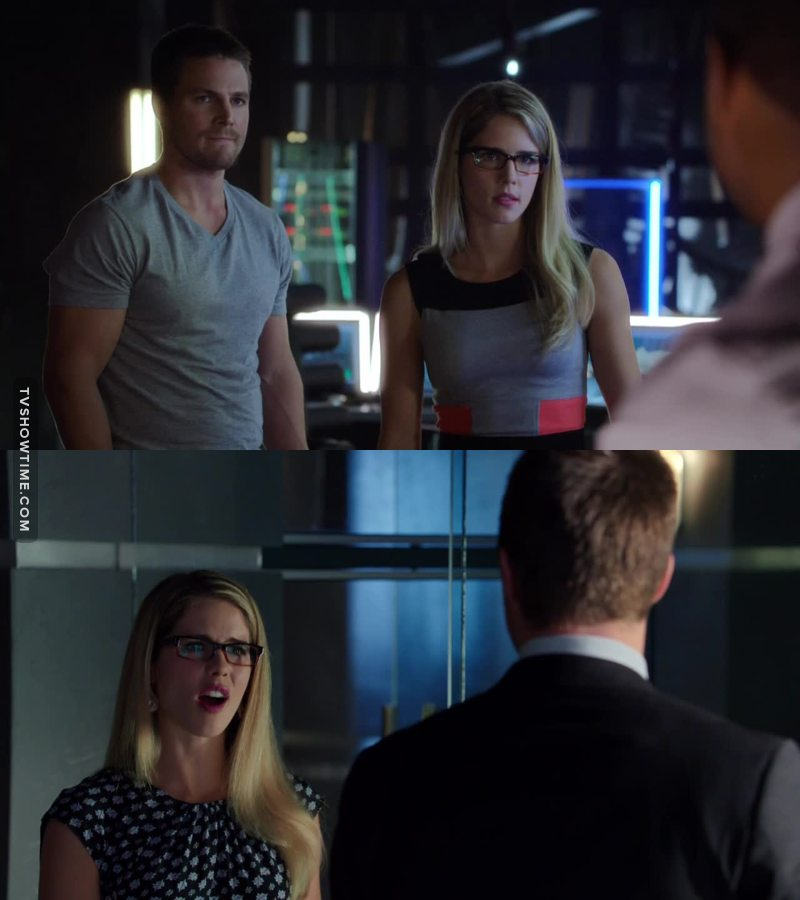 I love when Felicity is angry haha