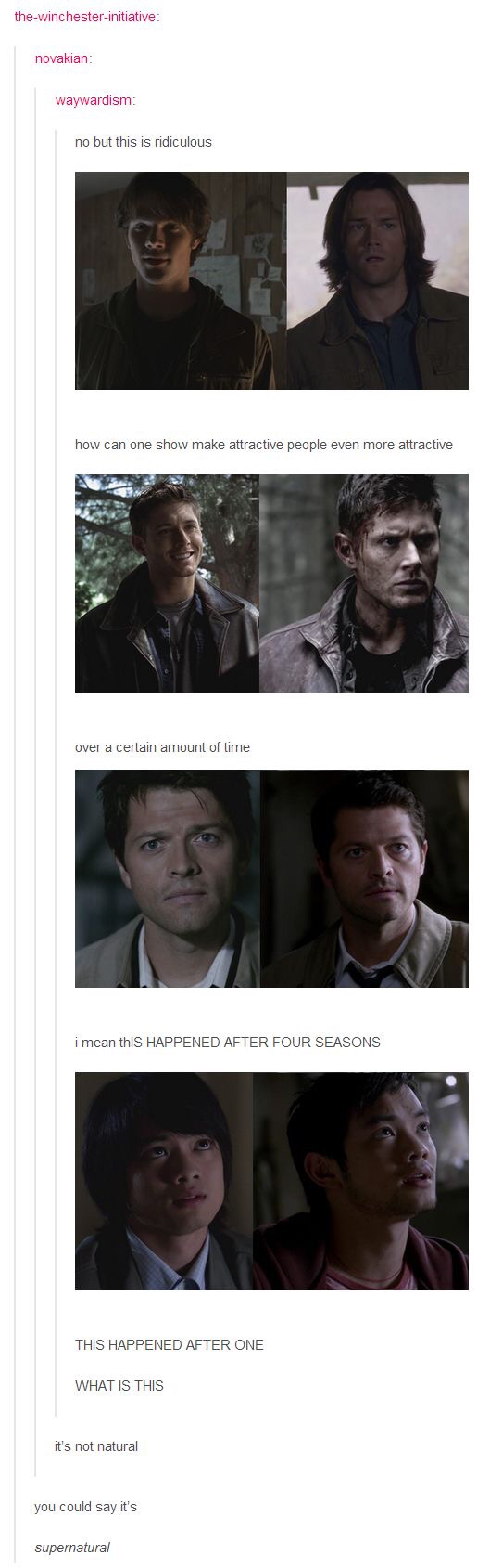 How can a show make attractive people even more attractive? 😂😂😂