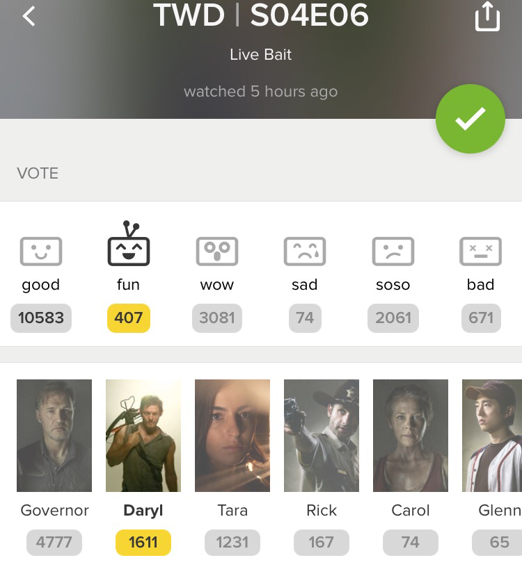 Daryl wasn't even in this episode, still I voted for him😂. No way I'm voting for that psycho