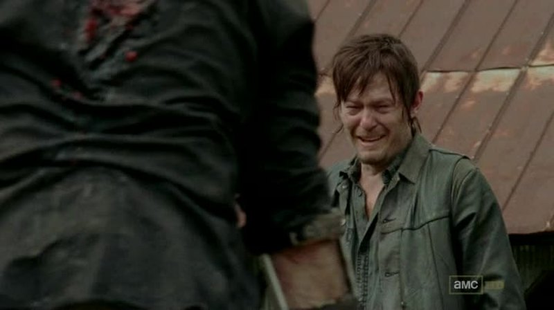 While Daryl was crying , I cried too