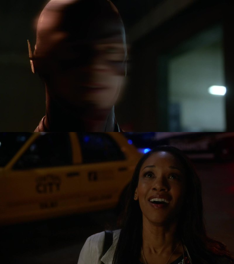 The way she looks at Flash without knowing that Flash is Barry reminds me of Spiderman and the relationship between Peter/Spiderman/Mary Jane