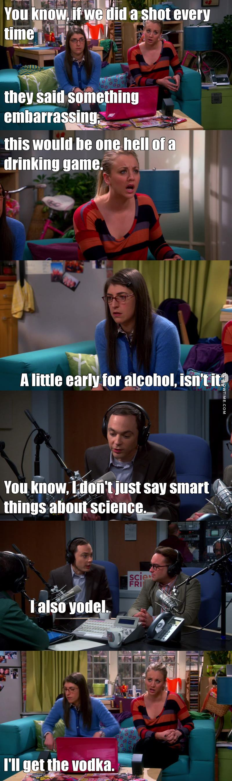 Penny and Amy listening to Sheldon and Leonard on the radio ! I'm dead xD