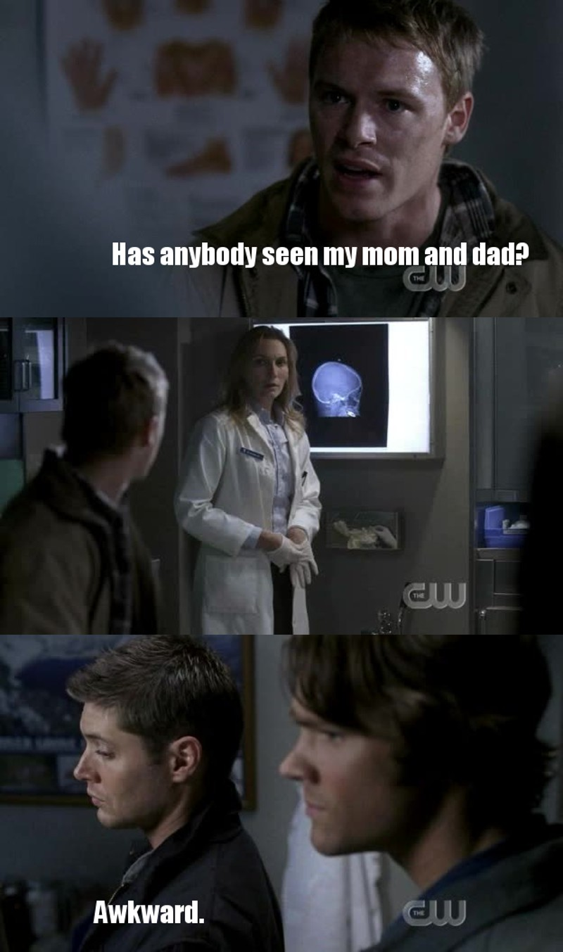 dean's reaction is just awesom :D