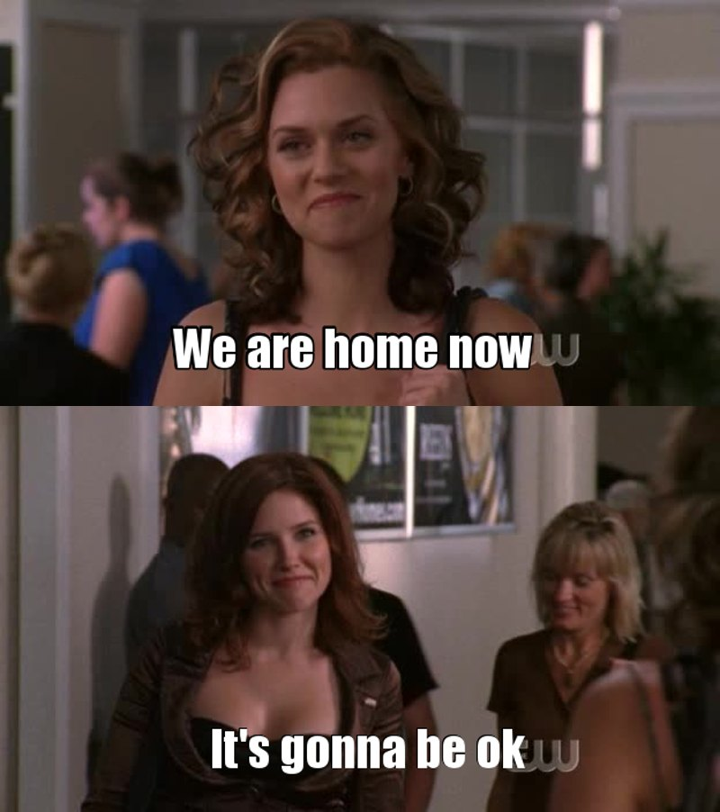 """I've missed you, Brooke Davis"" ""I've missed you, P. Sawyer""  Their friendship is so precious."