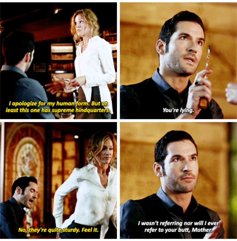 Lucifer's mum is one-of-a-kind. Loved all their scenes together.