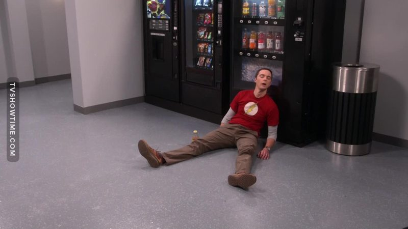 Sheldon represents all of us during the midterms and finals 😂