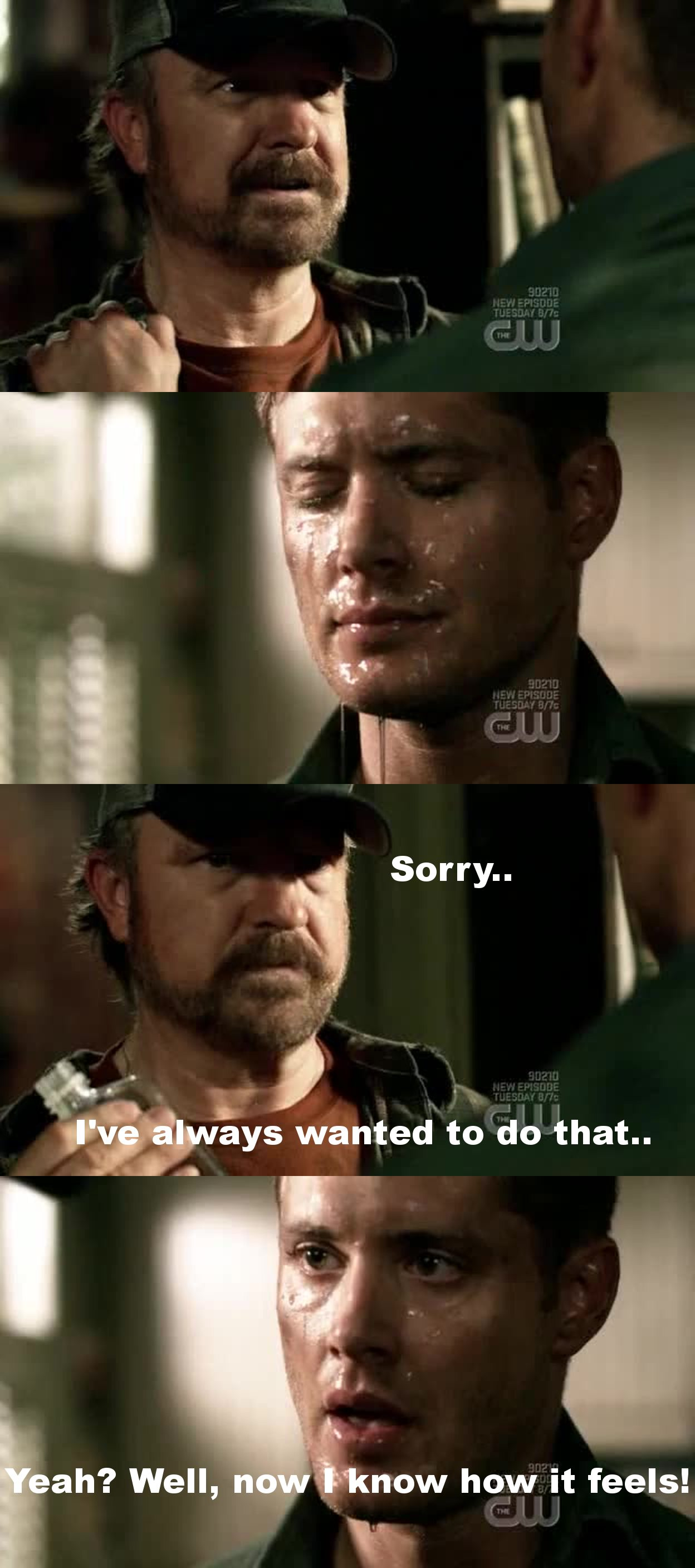 Best moment: Holy water scene with Bobby  Best quote: Dean - 'And what visage are you now, huh? What, holy tax accountant?'  ^_^