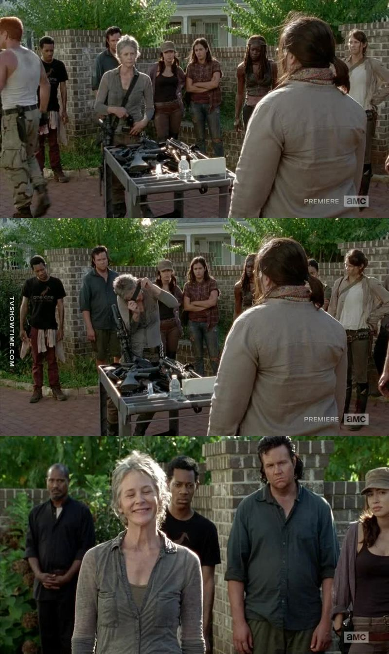 Ha Carol trying to act innocent and clumsy lol