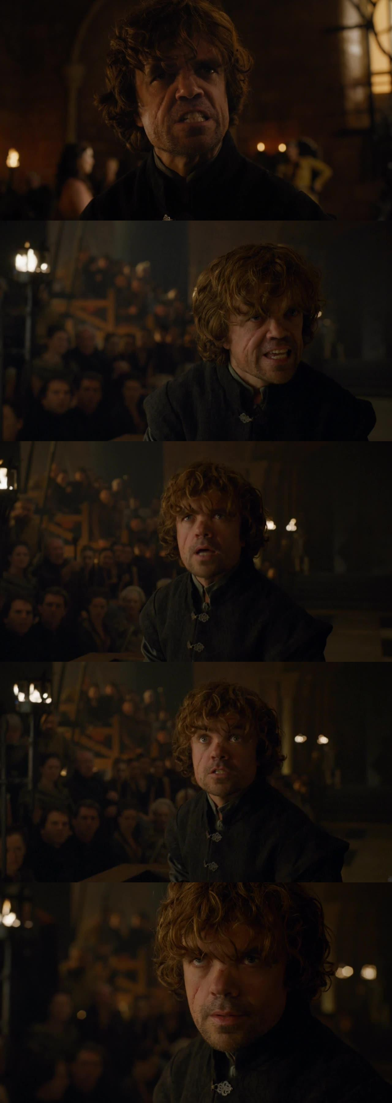 That moment when you realize that Peter Dinklage is going to win another EMMY...