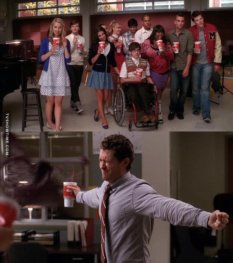 Hahaha...I laughed so much when they all started approaching Mr. Schue! #friendshipgoals