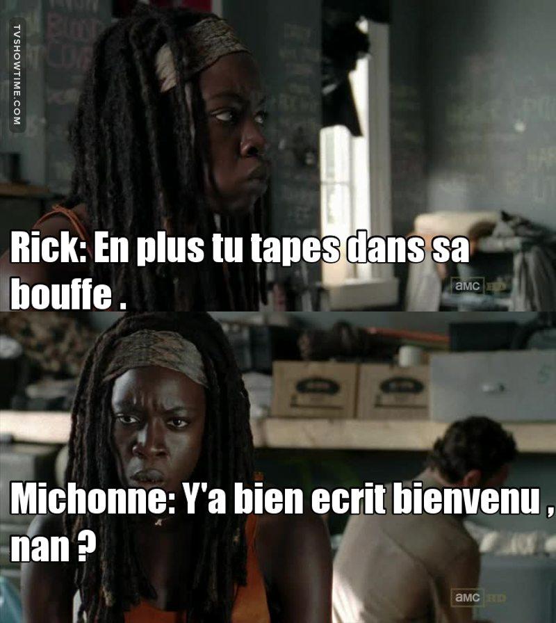 Michonne me tue de rire 😂😂