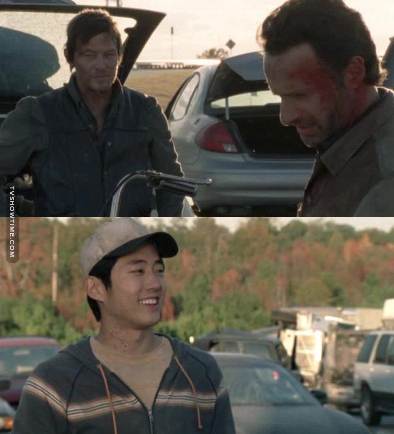 «Comment tu les as tous retrouvés ? –J'ai vu une voiture qui zigzaguait bizarrement sur la route, y avait qu'un asiatique qui pouvait conduire aussi mal.»