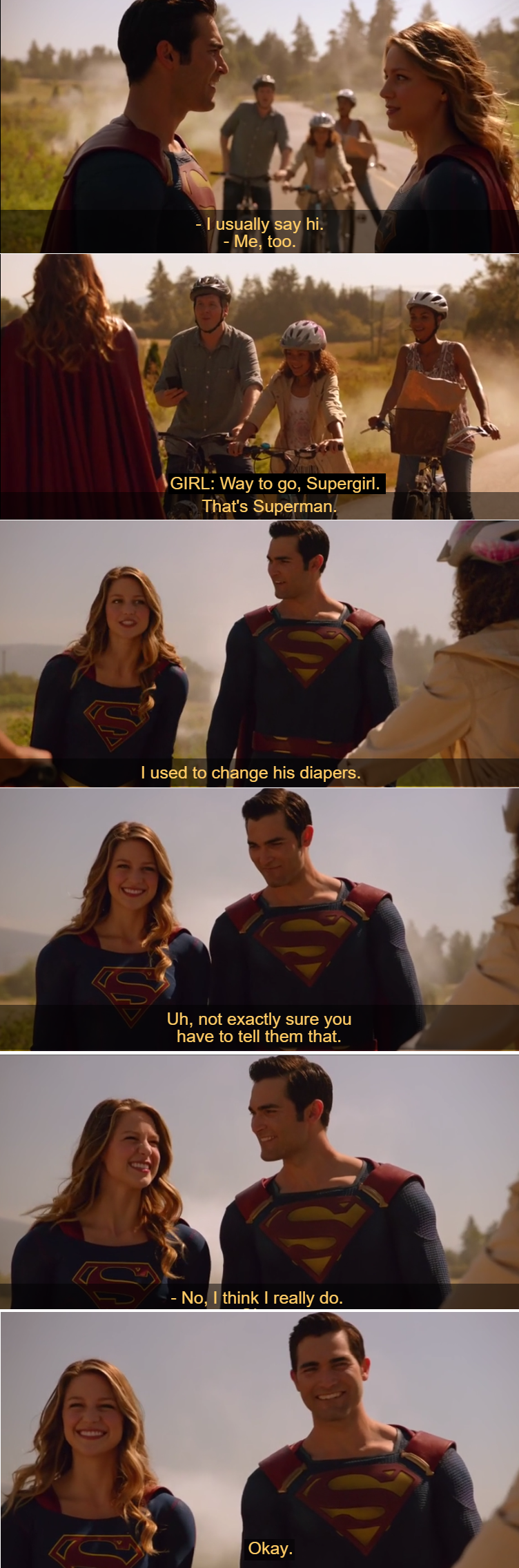 Wow!  What a show these two together! And Tyler... just perfect as Clark Kent.  Can I say the best Clark Kent ever?