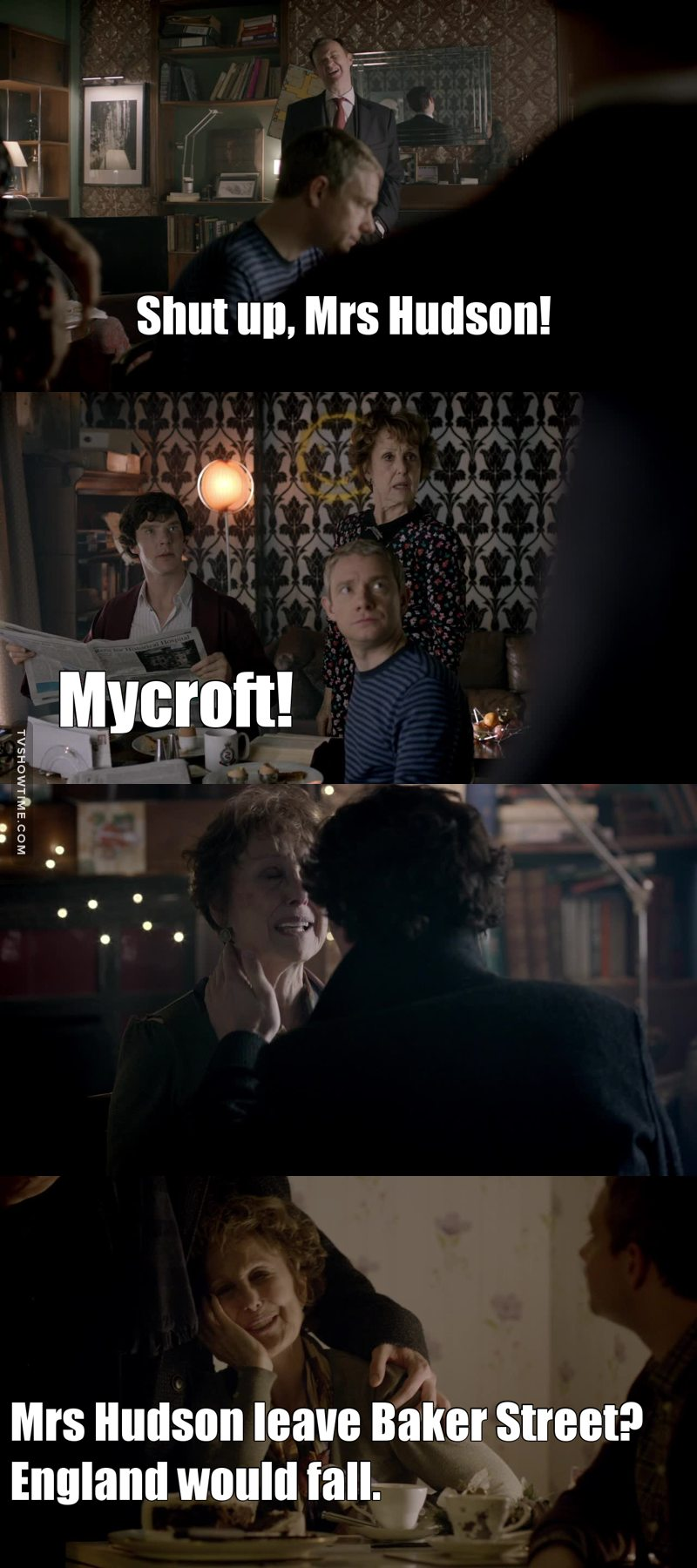 Sherlock and mrs Hudson ❤ They're so cute.