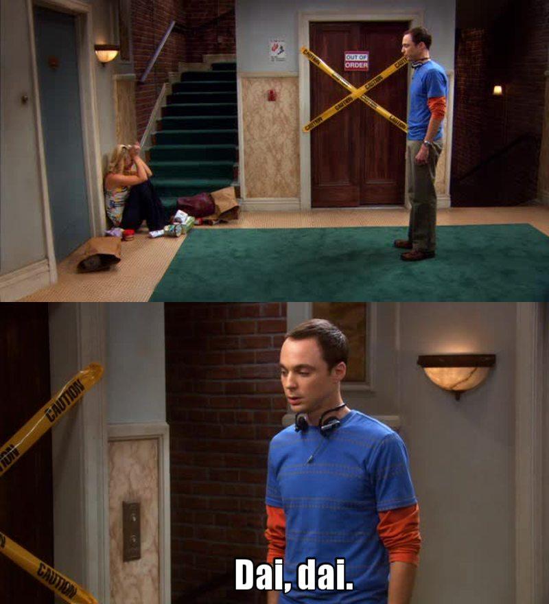 """Sheldon e i suoi """"Dai, dai"""" 😂"""