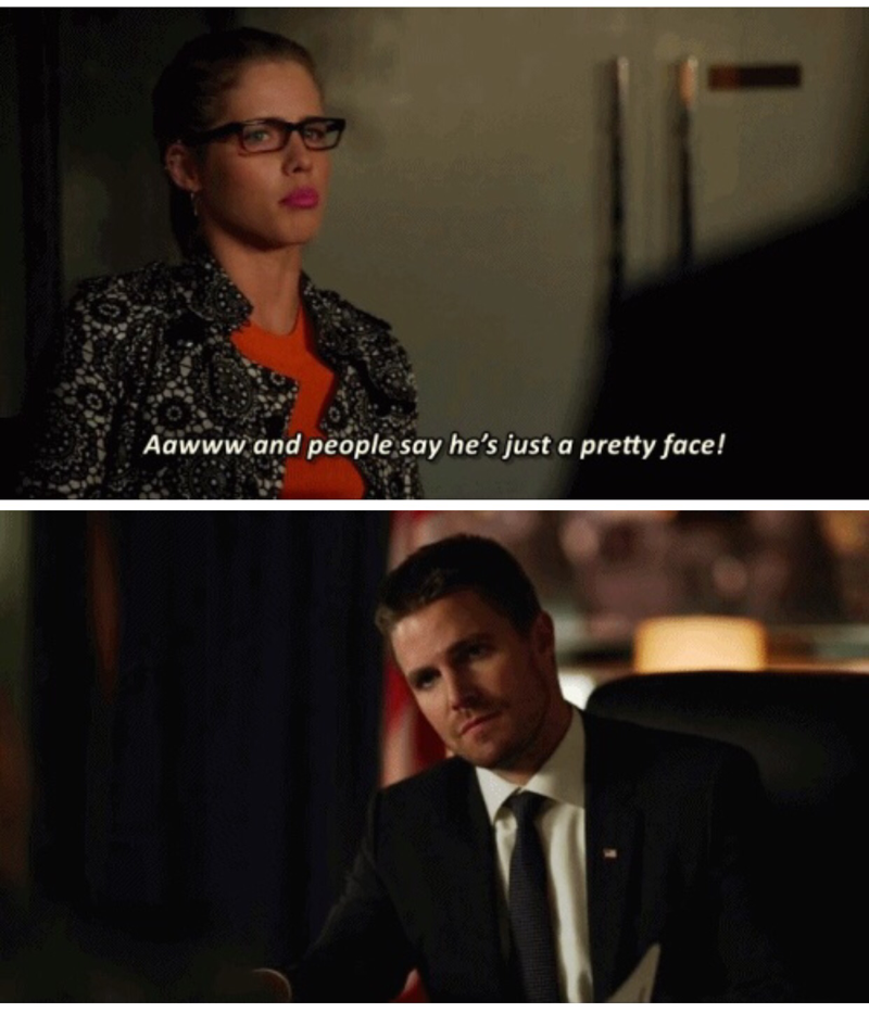 Oliver's reactions to all of Felicity's comments or jokes in this episode were so good. 😂😂😂