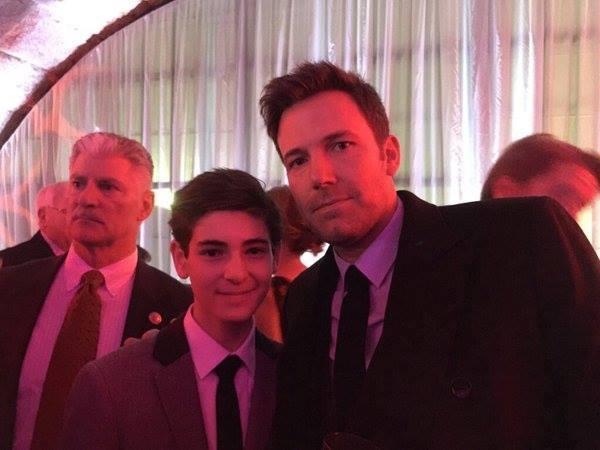 Bruce Wayne with his friend Bruce Wayne.
